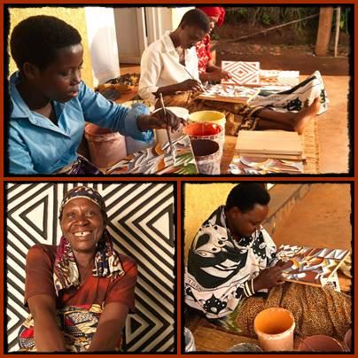 Imigongo Paintings - Where Cow Dung becomes Art in Rwanda