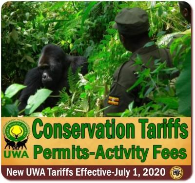 Uganda Wildlife Authority Tariffs–Activity Fees