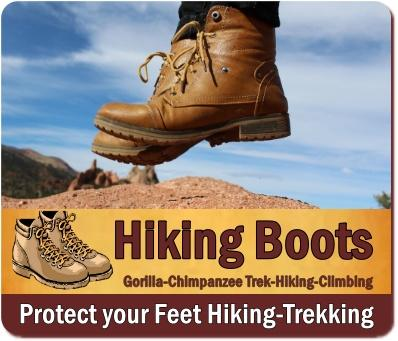 Hiking Boots are the Right Footwear for Gorilla Trekking and Hiking Safaris